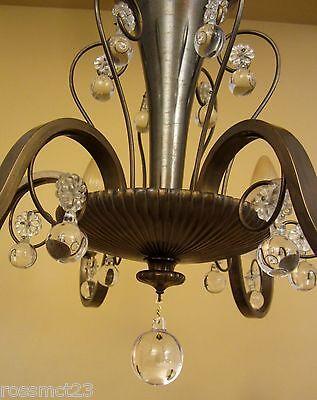Vintage Lighting circa 1950 Mid Century quality chandelier 7