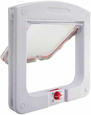 Cat & Dog Flap Door for Interior/Exterior Doors 4 Way Lock for Pets Entry & Exit 2