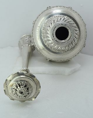 ANTIQUE 1920 PURE  STERLING SILVER Perfume / Gulab Art Figure Bottle 7