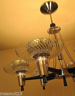 Vintage Lighting extraordinary Mid Century Modern fixture by Globe 3