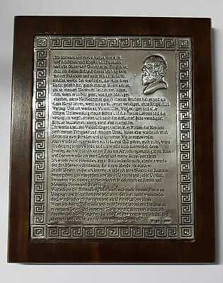 EID DES HIPPOKRATES Bildtafel 999 Silber Arztpraxis Dekoration Oath Hippocrates 2