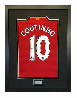 Frame For Your Signed Football/ Rugby Shirt + Free Engraved Plaque+Shirt Insert 7