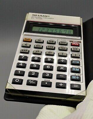 Calculadora Sharp El-509A Caja Original, Vintage Antigua De Calidad Japonesa 5