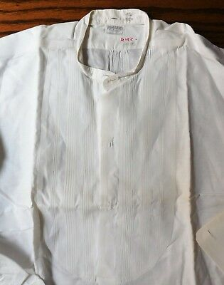 Rialbo starched tunic dress shirt Pin tuck front Size 15.25 vintage early 1900s 3