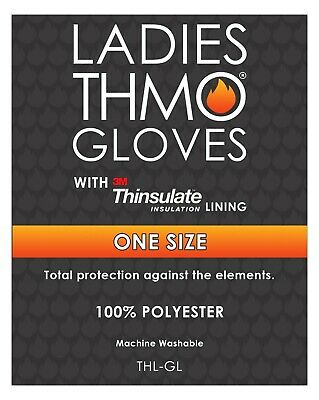 THMO - Ladies Outdoor Thermal Winter Chenille 3M 40 gram Thinsulate Lined Gloves 4