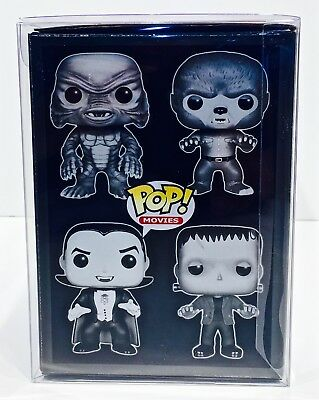 1 Box Protector For FUNKO POP! 4 PACKS   READ!  Clear Custom Made Display Case 6