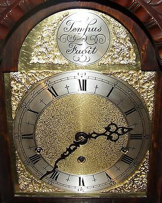 Antique Mahogany Grandmother Clock / Miniature Longcase : Westminster Chimes 5