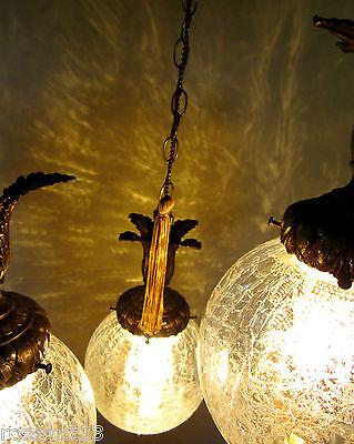 Vintage Lighting 1960s Hollywood Regency tri-globe chandelier   Extraordinary 8