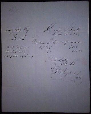 1844 letter LOWELL BANK MA Nathaniel White Esq cashier Bay State Massachusetts