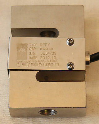 300 LB S-TYPE LOAD CELL HANGING CRANE SCALE ALLOY STEEL TENSION COMPRESSION NEW