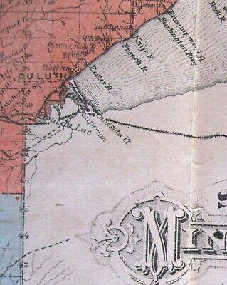 Original 1883 Pocket Map of Minnesota published St Paul Legislative Manual as is 3