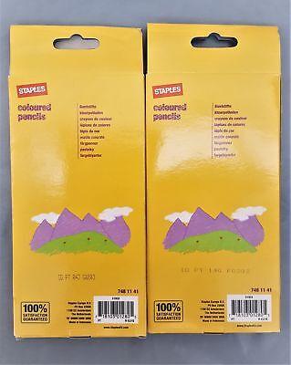 Staples - Coloured Pencils Childrens Favourite Colouring Pencils 2x12's 2