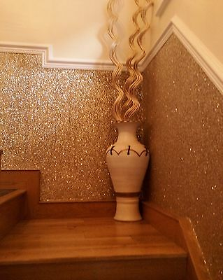 *SAMPLE* Glitter Wallpaper - Chunky Fabric - Gold, Silver, Black, Grey & Pink