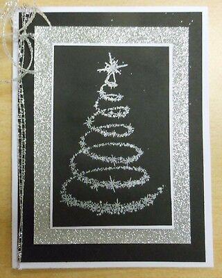 Star Tree Swirl Christmas Unmounted Rubber Stamp