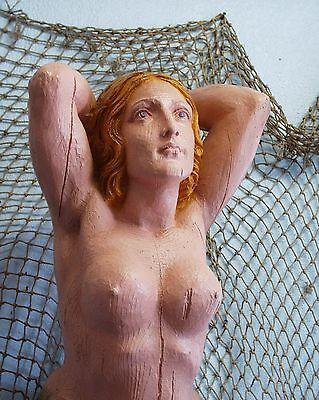 Large Mermaid Ships Figurehead Nautical Decor Folk Art