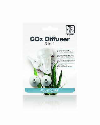Tropica 3 in 1 CO2 Diffuser - Bubble Counter Return Check Valve Ceramic Diffuser