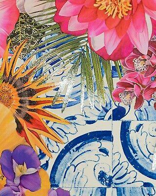 "Carlos Rolon Gild the Lily (Caribbean Azulejo), 2019 Ltd Ed Signed Print 24""x18"" 3"