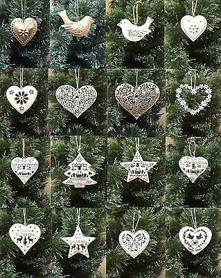 Vintage Style Shabby & Chic Wedding Hanging Hearts Heart Home Decoration Gift 4