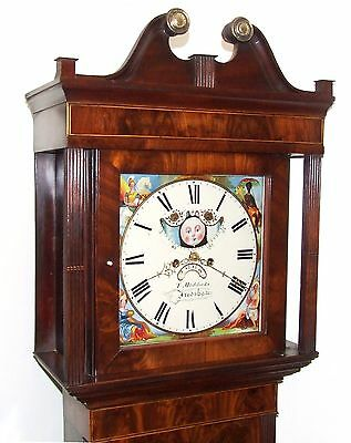 Antique Mahogany Halifax Moon Longcase Grandfather Clock : MADDOCKS FRODSHAM 3