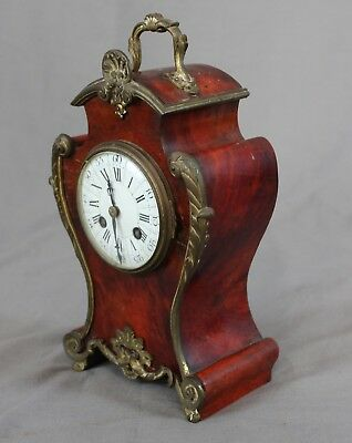 19th 20th Century French Boulle Mantle Clock c1900 3