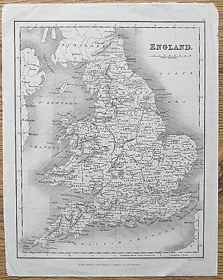 12 19th Century Great Britain England Wales Various Genuine Antique Maps 7