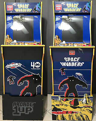 Arcade1up Cabinet Riser Graphics - Space Invaders Graphic Sticker Decal Set 6