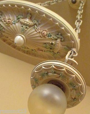 Vintage Lighting antique 1920s bedroom set. One ceiling fixture. Two sconces 2