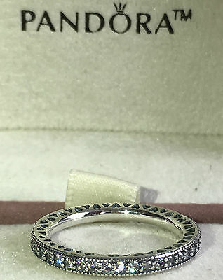 5a56ff571 ... 4FREE Shipping Pandora Hearts Of Pandora Ring 190963Cz, S925 Ale, Size  54 Sterling Silver+Pouch