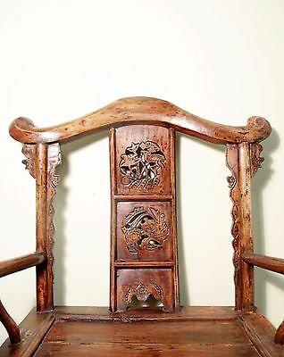 Antique Chinese Arm Chairs High Back (5606) (Pair), Circa 1800-1849 7