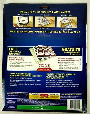 Avery Tear-Away Card Flyers - Mate White AVE16151 -  5 Flyers 120 Cards Ink-Jet 3
