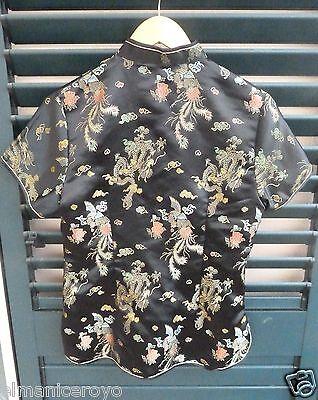 Camicia Blusa Stile Orientale Rayon Poliestere Altezza 63 Interascel 44 Vita 40 3