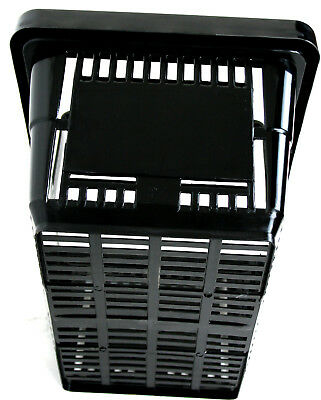 2 Handle Black Plastic Shopping Basket Retail Supermarket Use 2