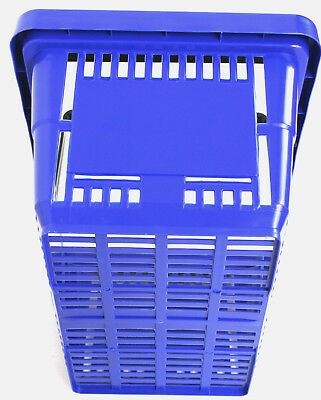 2 Handle Blue Plastic Shopping Basket Retail Supermarket Use Hand Carry 2