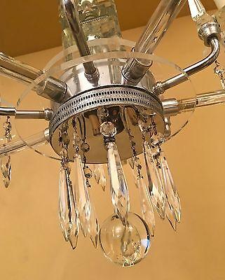 Vintage Lighting extraordinary 1930s Deco crystal chandelier 4