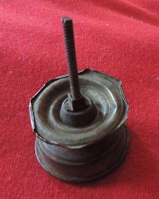 Antique 19th c. Spun Brass Furniture Knob Drawer Pull Handle Federal Regency