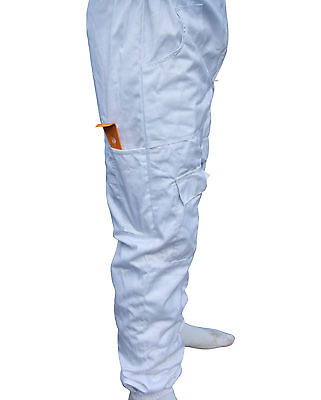 White Apiary Additions Beekeeping Bee Suit with Round Veil - All Sizes - 260gsm 8