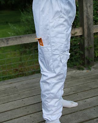 White Apiary Additions Beekeeping Bee Suit with Fencing Veil - All Sizes 260gsm
