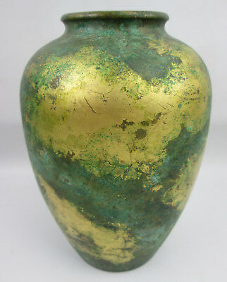 Patina Vase with Gold Detail