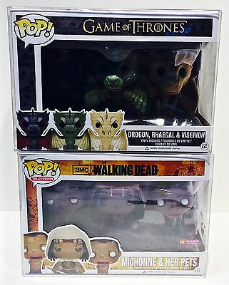 1 Box Protector For Many (Not All) FUNKO POP! 3 Packs  Read! Clear Display Case 4