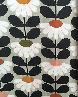 Orla Kiely Scribble Sunset Flower Multi 50cm 150cm wide cotton fabric new