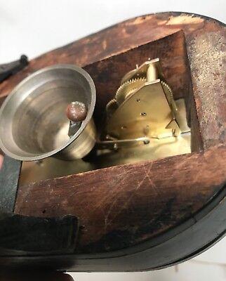 Pretty Miniature Scissor Frame Skeleton Clock With Alarm & Glass Dome Circa 1860 11