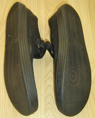 Pair Of Used Girls Black Plimsole Pumps From Next Size 5 4