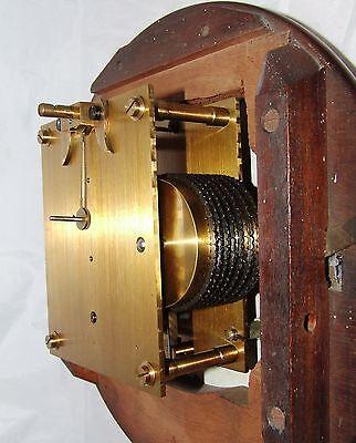 # Antique  rare 8 inch Dial CHAIN Fusee Mahogany Wall School Clock c1900 10