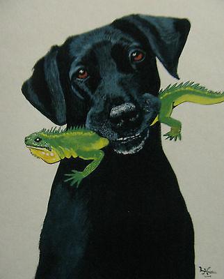 "C131         Original Acrylic Painting By Ljh         ""Scaredy Cat"" 2"