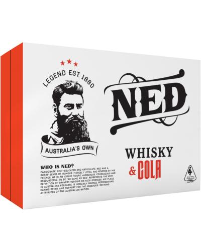 NED Whisky & Cola 4.8% 375mL case of 24 Australian Whisky Premix Drinks