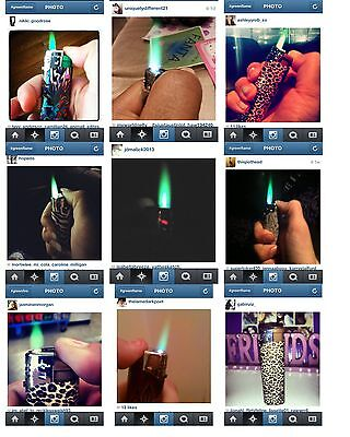 Color Flame Fire Butane Colorflame Colorful Torch Lighter Green Flame Purple Gem 6