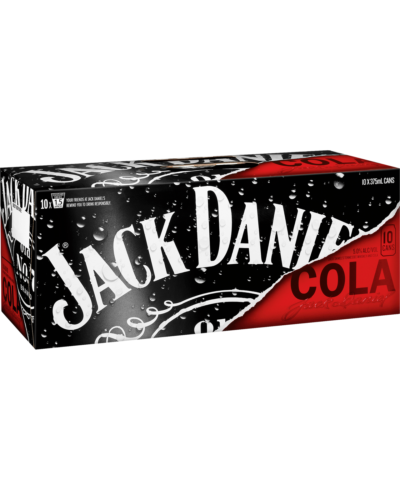 Jack Daniel's Tennessee Whiskey & Cola Cans 10 Pack 375mL case of 20 Bourbon