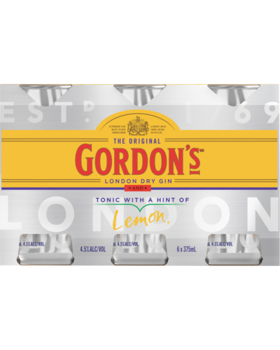 Gordon's Gin & Tonic Cans 375mL case of 24