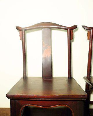 Antique Chinese High Back Chairs (Pair) (5767), Circa 1800-1849 2
