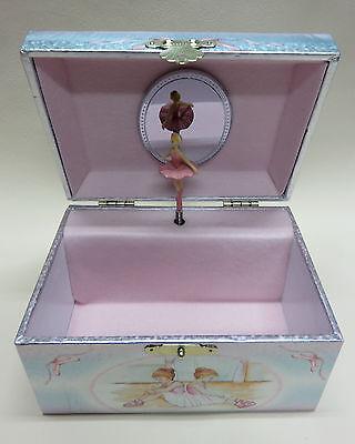 wunderschönes Schmuckkästchen Spieldosen Schatulle mit Spieluhr Ballerina gold glitzer NEU